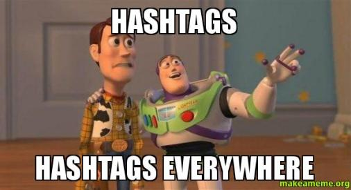 hashtags author meme