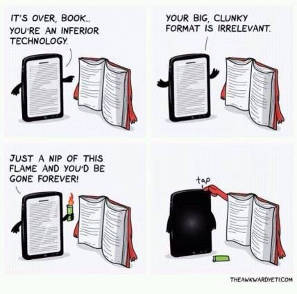 paper back vs kindle book meme